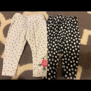 Lamaze baby girl polka dot leggings bundle 3M